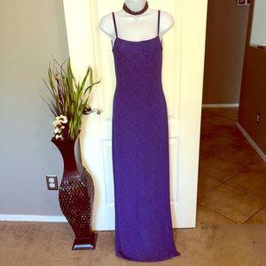 🔹Elegant Blue Evening Gown with Back Design!🔹